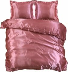 Beauty Silk Dekbedovertrek - 240x200/220 - Glans Satijn - Oud Roze