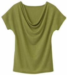 Enna Shirt met watervalhals, avocadogroen 44/46