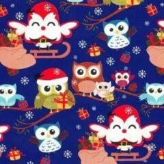 Blauwe VerraXL Cadeaupapier Kerst - print 5 - 70cm - 200m - 70gr   Winkelrol / Apparaatrol / Toonbankrol / Geschenkpapier / Kadopapier / Inpakpapier