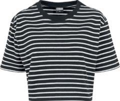 Urban Classics Ladies Short Striped Oversized Tee Maglia donna nero/bianco