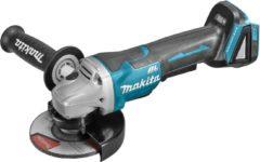 Makita DGA508ZJ 18v Haakse slijper 125mm, Mbox, met veiligheidsschakelaar | zonder accu's en lader