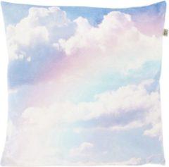 Gele Dutch Decor Sierkussen Rainbow 45x45 cm roze