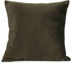 Countryfield Kussen Carola 40 X 40 X 15 Cm Textiel Donkerbruin