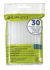 Transparante Westcott AC-E16837 Lijmpatronen in Zak 30 Stuks