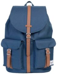 Blauwe Herschel Dawson Rugzak Navy/Tan Synthetic Leather