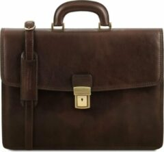 Tuscany Leather Amalfi - Leren aktetas - Donkerbruin - TL141351