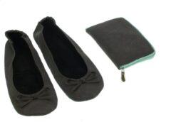 Meander elegant home accesoires Pocket Shoe donker blauw maat 40/41 - slofje voor onderweg