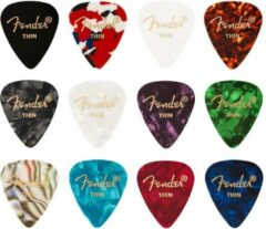 Fender Plectrum Celluloid Medley Plectrums 12 stuks