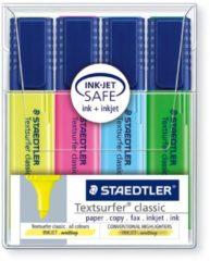 STAEDTLER 364 WP4 Penmodel tekstmarker Schuine punt 1-5 mm Kleurenassortiment 4 Stuks