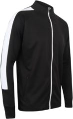 Senvi Sports Knitted Tracksuit Jacket - Zwart-Wit - XXL