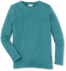 Hessnatur Kinder Langarmshirt aus Bio-Baumwolle – grün – Größe 158/164
