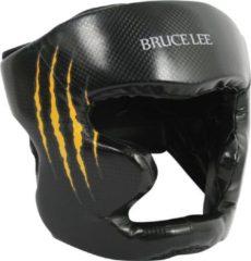 Zwarte Bruce Lee Signature Hoofdbeschermer - Kickbokshoofdbeschermer - PU - S/M