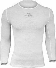 Brubeck Sportondergoed Ondershirt / Baselayer met 3D Technology -Lange Mouw-wit-S