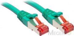 Groene Lindy Rj45/Rj45 Cat6 3m 3m Cat6 S/FTP (S-STP) Groen netwerkkabel