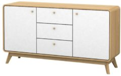 Sideboard Neele Notio Living A/S Natur/Weiß