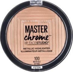 Gouden Maybelline Master Chrome Metallic Highlighter 100 Molten Gold