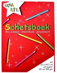 Rode CreaKit Schetsblok Junior A4 Papier Wit 50 Vellen 200 grs