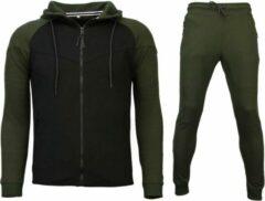 Style Italy Trainingspakken Windrunner Basic - Groen / Zwart - Maat: S