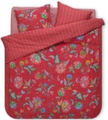 Pip Studio Jambo Flower Dekbedovertrek - 2-persoons (200x200/220 Cm + 2 Slopen) - Percal Katoen - Red