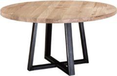 Grijze Table du Sud - Ronde eiken tafel Le Pizou - 150
