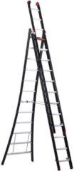 Transparante Altrex Nevada Reformladder 3x12 sporten - Anti Slip - Werkhoogte 5.35m