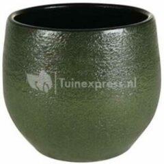 Donkergroene Ter Steege Pot Zembla groen bloempot binnen 17 cm