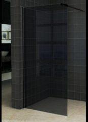 Aqua Splash AQS Inloopdouche Pro Line Rookglas 8mm Nano Coating Mat Zwart Profiel en Stang (ALLE MATEN)