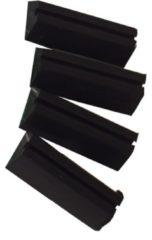 Zwarte Merkloos / Sans marque Hondenbench - Onderzetters - 4 stuks