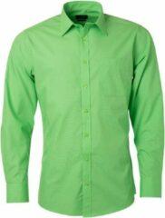 James & Nicholson James and Nicholson Heren Longsleeve Poplin Shirt (Kalk groen)