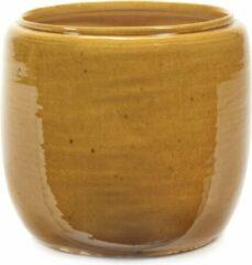 Serax Bloempot Costa Honey-Geel D 21 cm H 21 cm