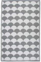 Esschert Design Buitentapijt Graphics 180x121 cm grijs en wit OC24
