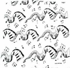 Zac's Alter Ego Bandana White based Musical Themed Mondkapje Wit/Zwart