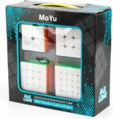 4 in 1 Voordeelpakket - MoYu Cube - Rubik's Cube - Breinbreker 2x2, 3x3, 4x4, 5x5 - Rubik's kubus