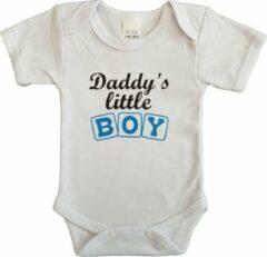 """Merkloos / Sans marque Witte romper met """"Daddy's little boy"""" - maat 80 - vader, vaderdag, babyshower, zwanger, cadeautje, kraamcadeau, grappig, geschenk, baby, tekst, bodieke"""