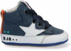BunniesJR 221101-528 Jongens Lage Schoenen - Maat 19 - Blauw - Babyschoentjes - Baby - Leer - Veters - Babysneakers