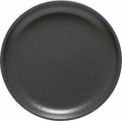 Costa Nova - servies - brood bord - Pacifica antraciet - aardewerk - set van 6 - rond 16 cm