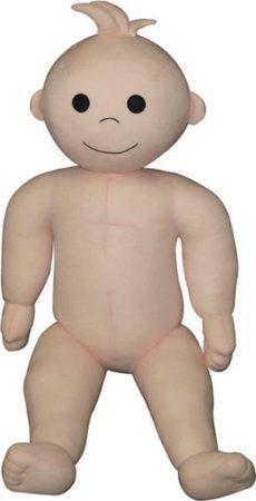 Afbeelding van Huidskleurige Hegro Wolvega BV Etalagepop baby 56cm