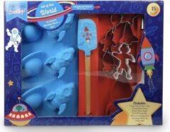Blauwe Handstand Kitchen Space Party Bak Set