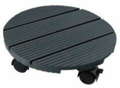 NATURE Plank op wieltjes voor planten - Houtcomposiet - H7 x �30 cm