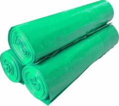 Dimensio Afvalzakken 70x110cm LDPE T50 groen - Doos 250 stuks (10 rol x 25 zakken)