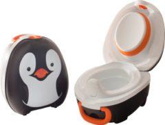 Jippie's Plaspotje My Carry Potty Pinguin 26 X 15 Cm Zwart/wit