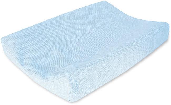 Afbeelding van Lichtblauwe Cottonbaby wafel aankleedkussenhoes lichtblauw