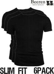 Zwarte Beeren | T-Shirt | Ronde Hals | MAAT L | 3-Pack | Zwart | Slim Fit