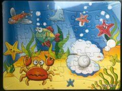 Stemen Kinderpuzzel zee parel krab 28 cm x 21 cm