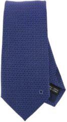 Blue SALVATORE FERRAGAMO Cravatta 8 Cm In Pura Seta Con Fantasia Doppio Gancio Mediterraneo All Over