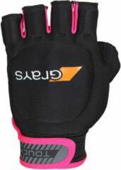 Roze Grays Touch Hockeyhandschoen - Hockeyhandschoenen - zwart - L