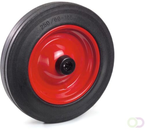 Afbeelding van Fetra Massief rubber band 250 x 60 mm, Stalen velg - rood