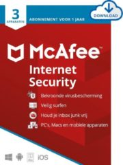 McAfee Internet Security - 12 maanden/3 apparaten - Nederlands - PC/Mac Download