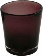 Home Delight Yara - Waxinelichthouder - ø9x8,5cm - Bordeaux rood