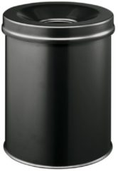 Zwarte DURABLE Waste basket Safe round 15